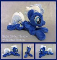 Night Glider Plushie by haselwoelfchen