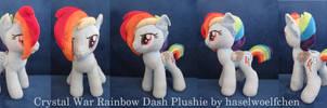 Crystal War Rainbow Dash Plushie by haselwoelfchen