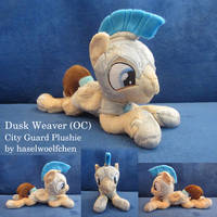 Dusk Weaver (OC) City Guard Plushie by haselwoelfchen