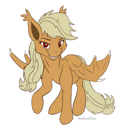 Applebat (flat colours) by haselwoelfchen