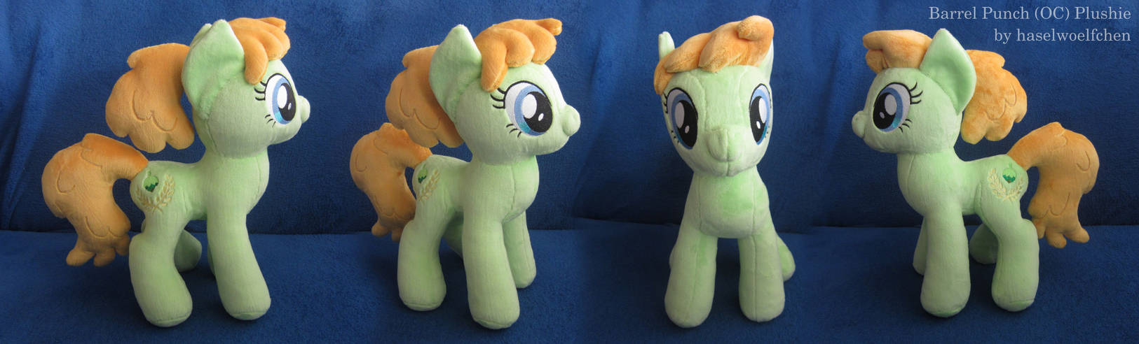 Barrel Punch OC Plushie by haselwoelfchen