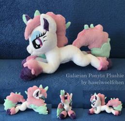 Galarian Ponyta Plushie MLP Style