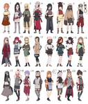 Naruto Female Adoptables Batch [ALL SOLD tysm!] by Ringoleen
