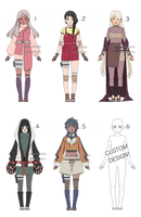 Naruto Collab Adoptables [SOLD] by Ringoleen
