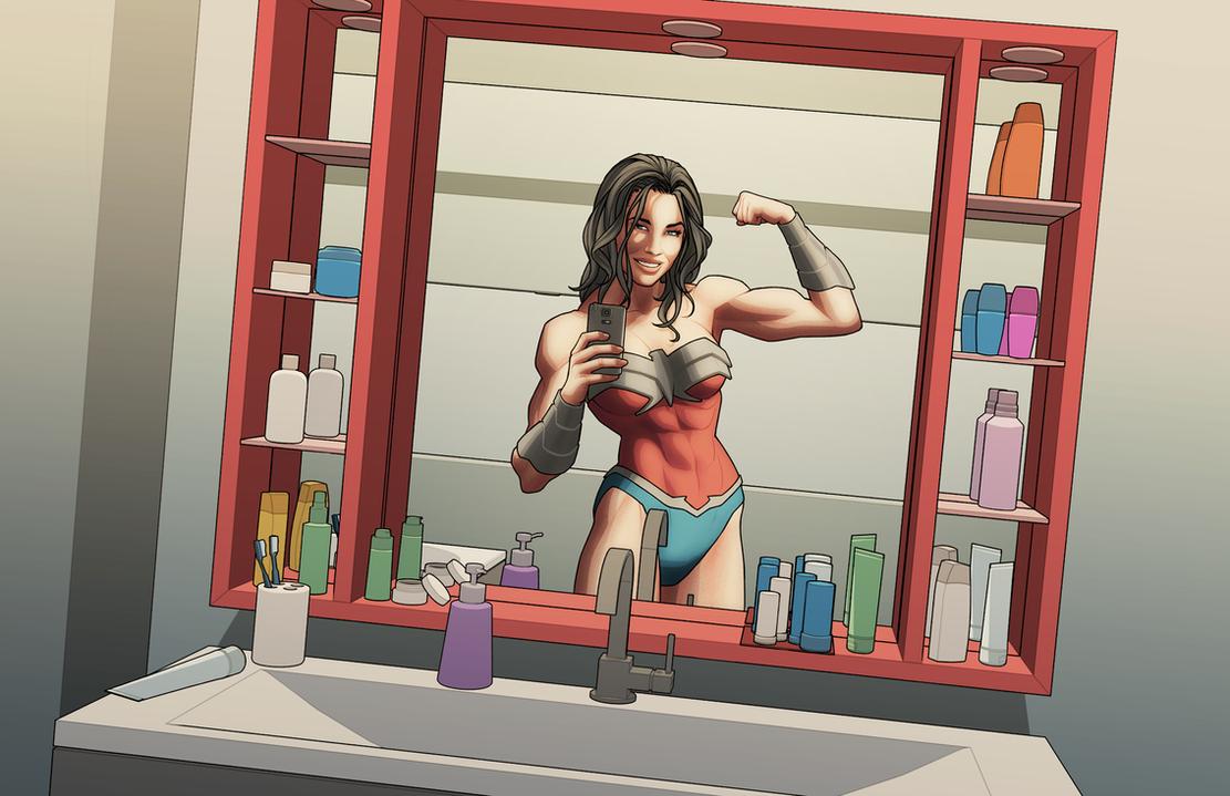 Wonder Woman Selfie by Georgel-McAwesome