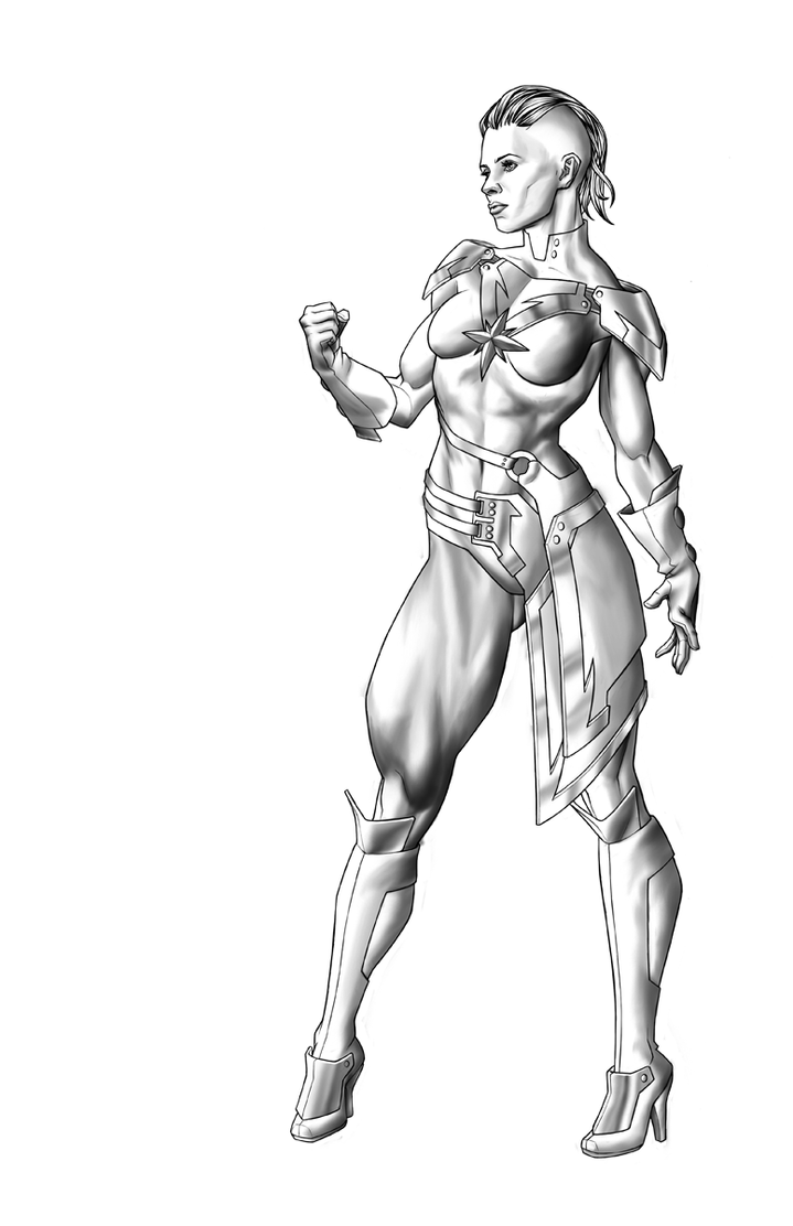 Captain Marvel WIP by Georgel-McAwesome