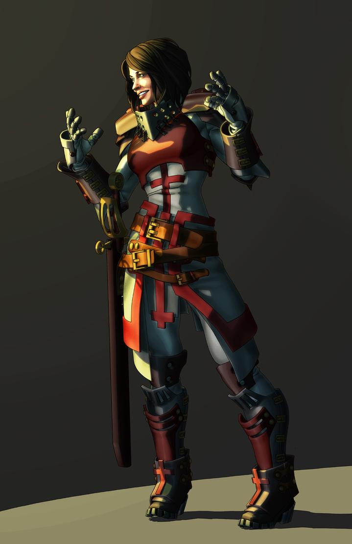 Steampunk Templar by Orr-Malus