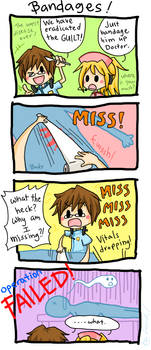Trauma Center Comic - Bandages by LarkIsMyName