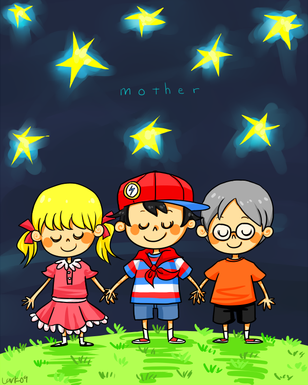 Ninten, Ana et Loid Mother_by_LarkIsMyName