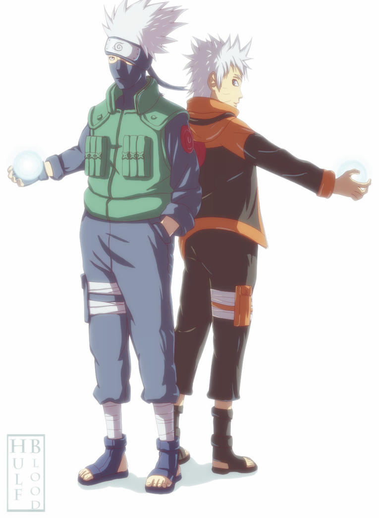 Naruto and Kakashi Comission by HulfBlood