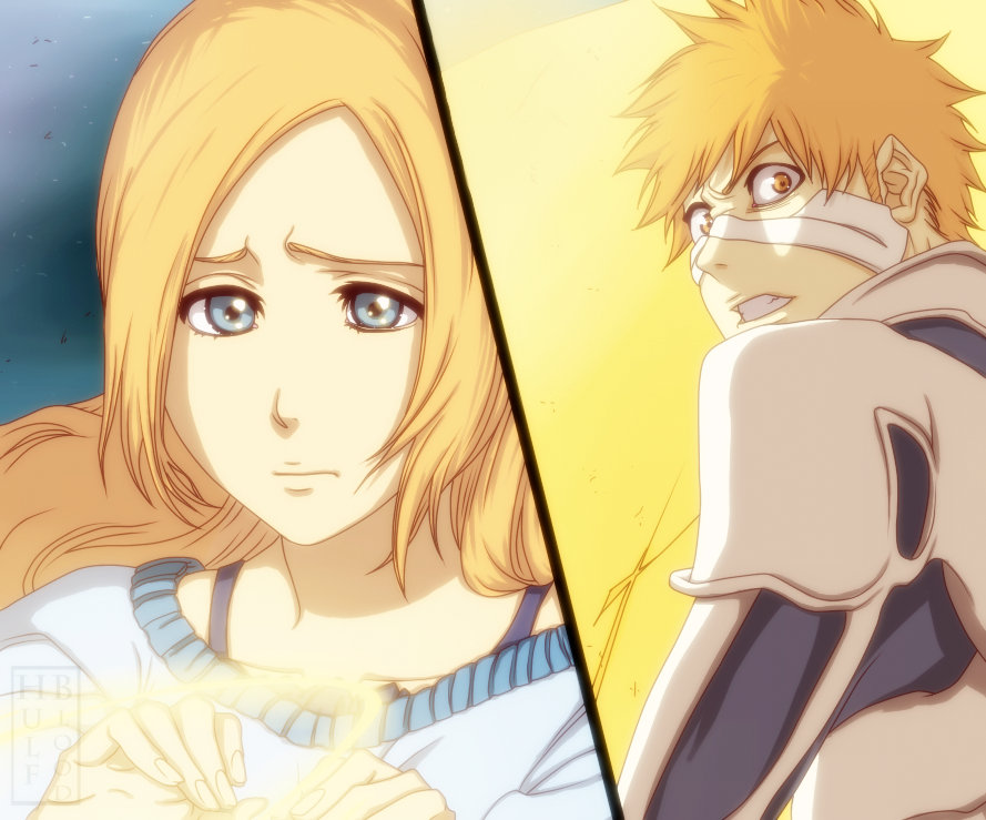 Bleach ch546 Ichigo and Orihime by HulfBlood