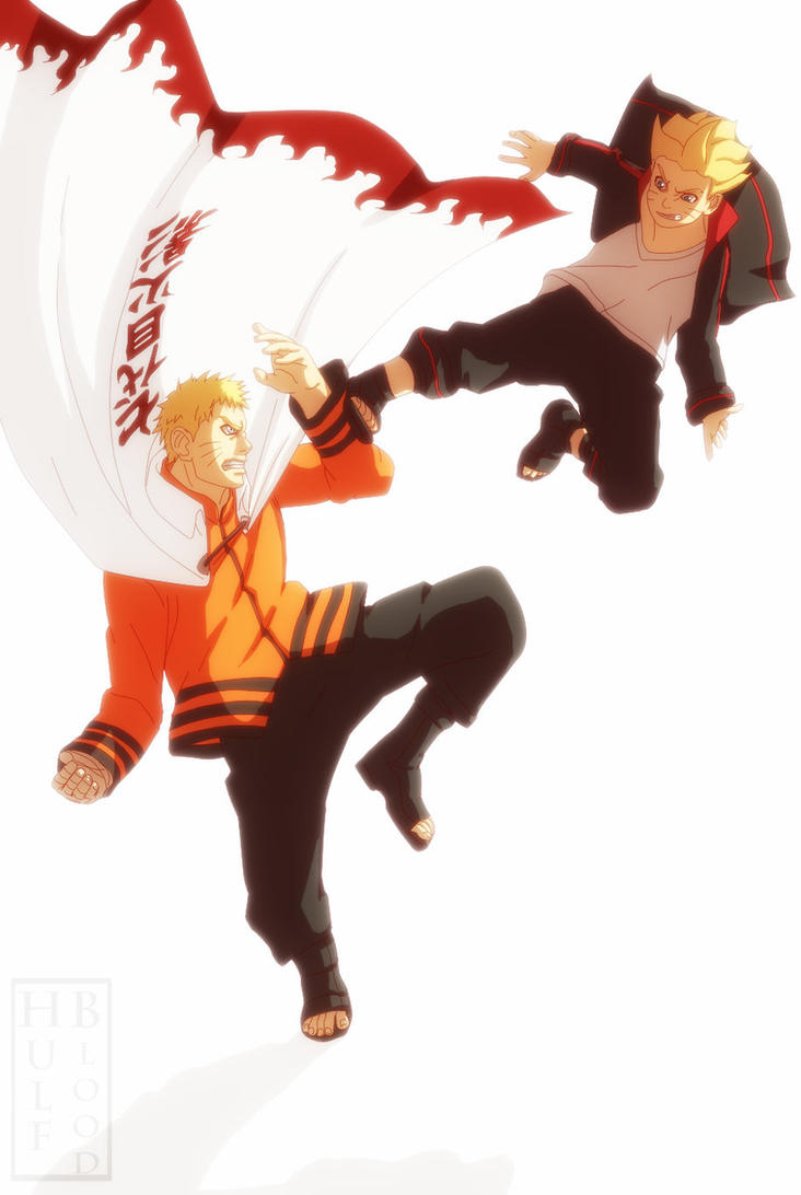 Naruto Gaiden the Seventh Hokage Naruto vs Baruto by HulfBlood