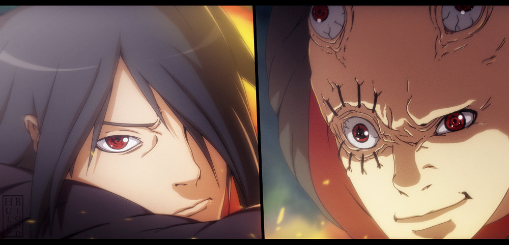 Sasuke vs Unknown Uchiha by HulfBlood