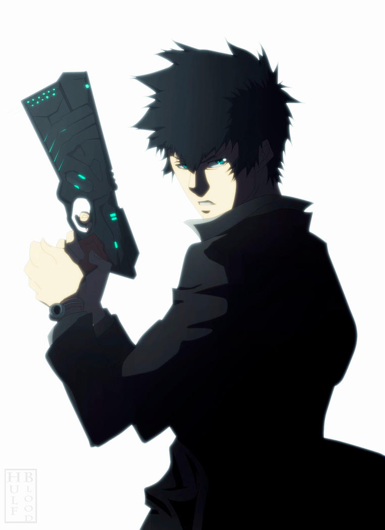 Kougami Shinya Psycho Pass Comission by HulfBlood