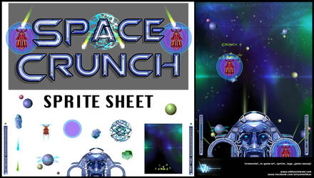 Space crunch Sprite sheet and screenshot