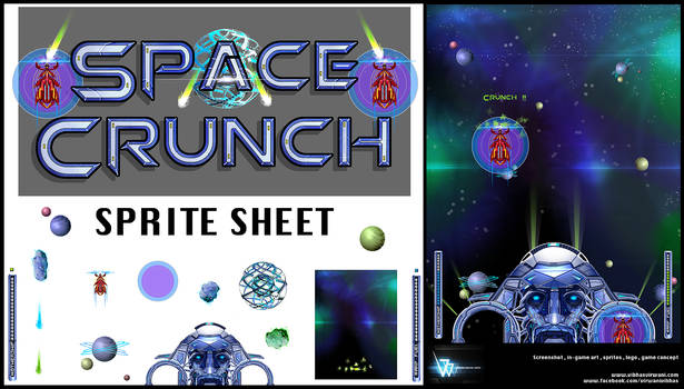 Space crunch Sprite sheet and screenshot