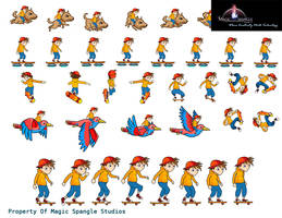 Animations Sprite Sheet Rooftop Skater by VibhasVirwani