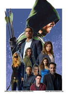 Arrow Fan art poster commission by VibhasVirwani