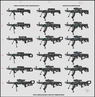 Sci-fi Weapons Concept Variations Project Warcry