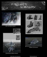 Structure mech and vehicle concept art project war
