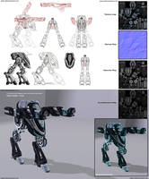 The Strider - Mechanoid concept art to 3D