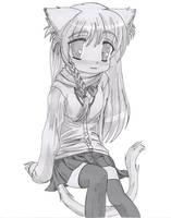 Tiny Catgirl by Hank88