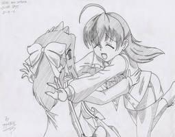 Sekai's welcome hug sketch by Hank88