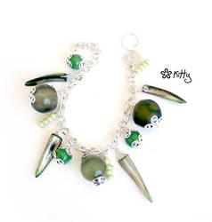 _Green field charmbracelet