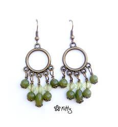 _Kiwi mist earrings