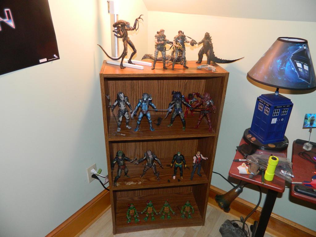 my NECA shelf by wolfin22