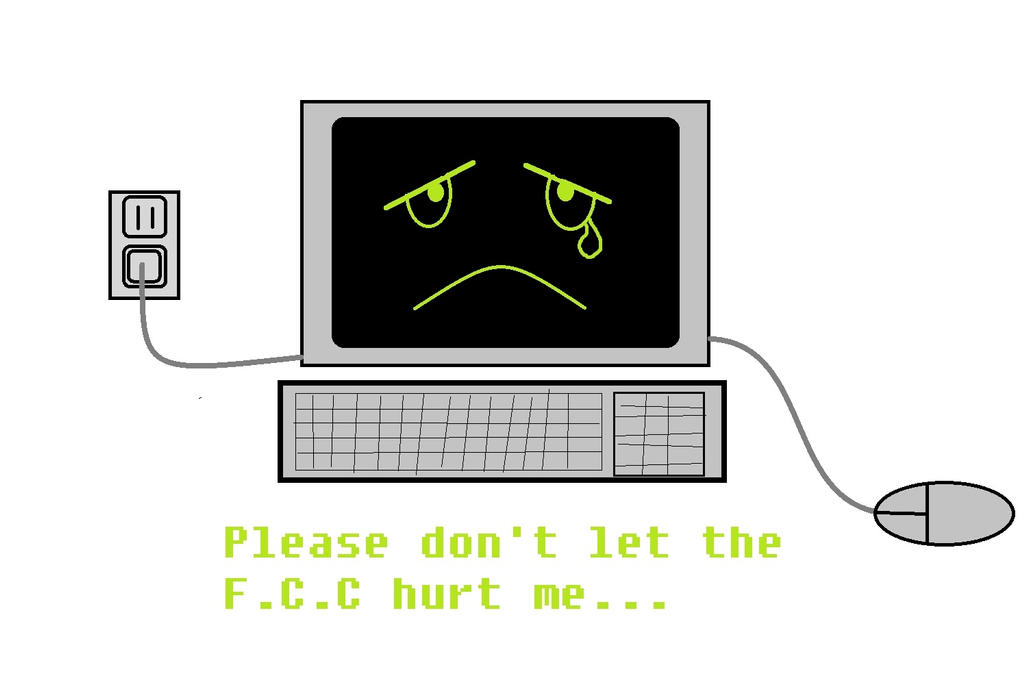 Frightend Computer by wolfin22