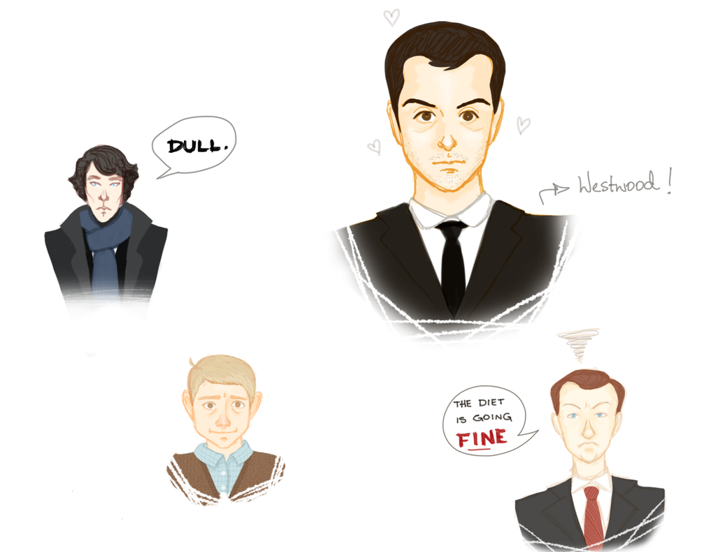 The Men of Sherlock by sofirezende