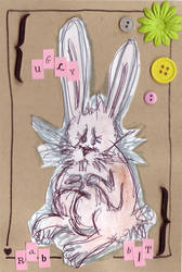 Ugly rabbit by LoveLaurenMontgomery