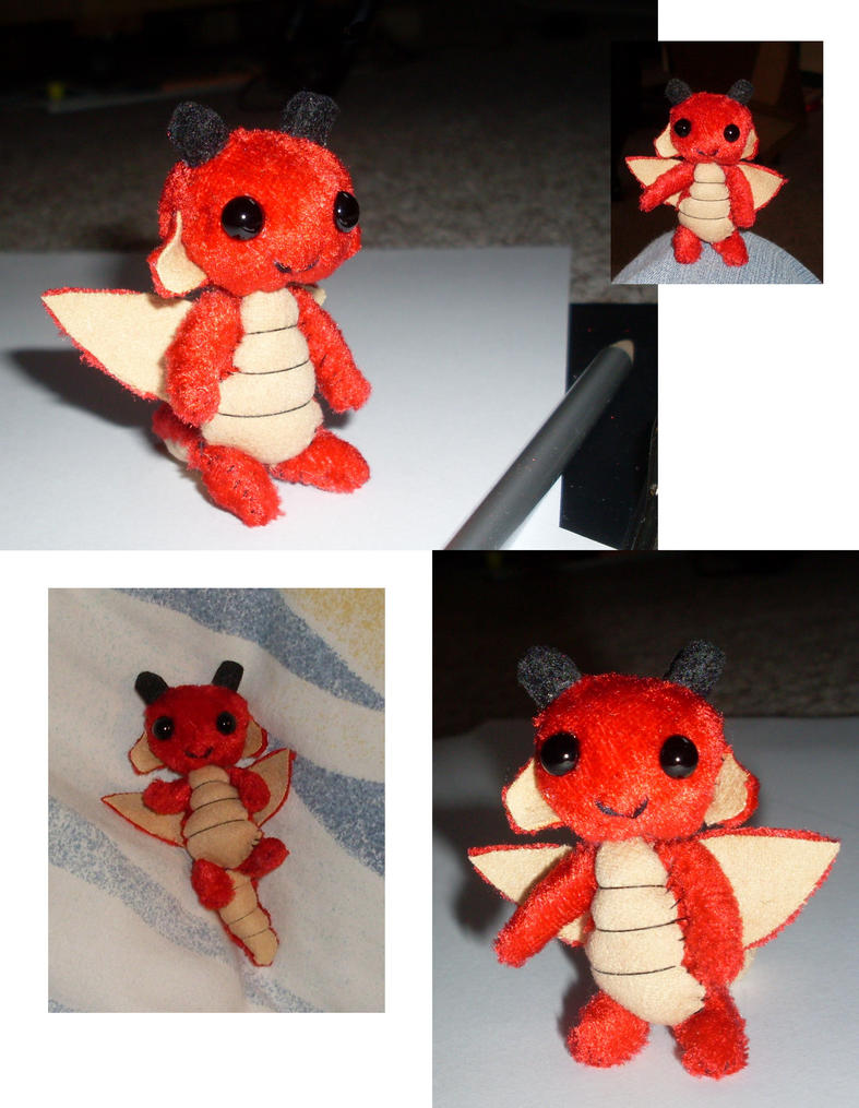 Tiny red Babydragon by Wollfisch