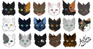Chibiheads | Lots of Cats