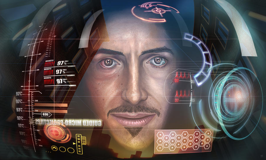 Iron man by huzzain