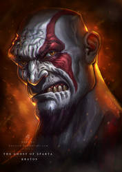 GHOST OF SPARTA (kratos) by huzzain