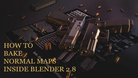 How to bake normal maps inside blender 2.8 by huzzain