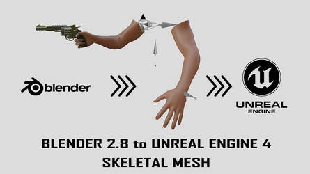 Blender to Unreal engine 4 Skeletal mesh by huzzain