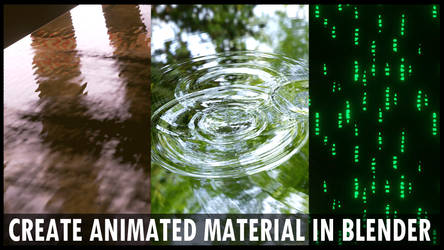 How to Create Animated Material in Blender 2.8