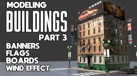 Modeling Buildings In Blender Part 3
