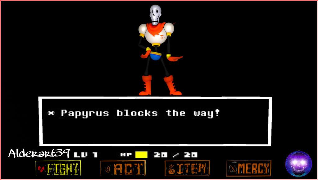 Papyrus Battle by Alderart39 on DeviantArt