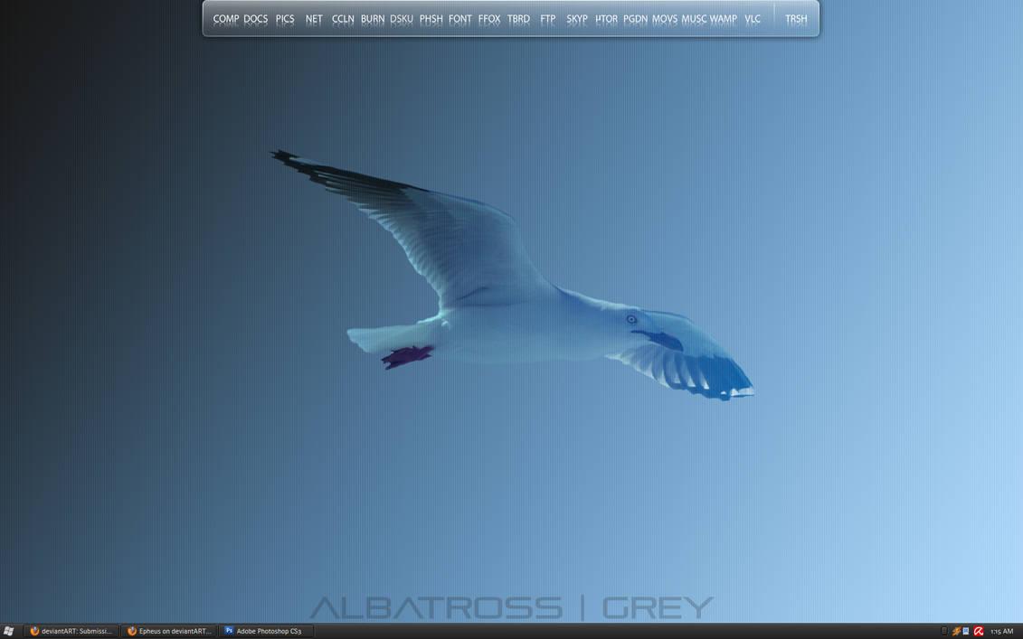 Albatross Grey Desktop