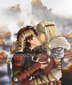 Hiccstrid love kiss by Auro0109