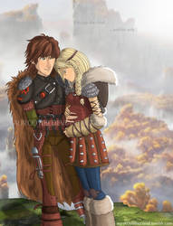 Hiccup the chief and his wife, Astrid