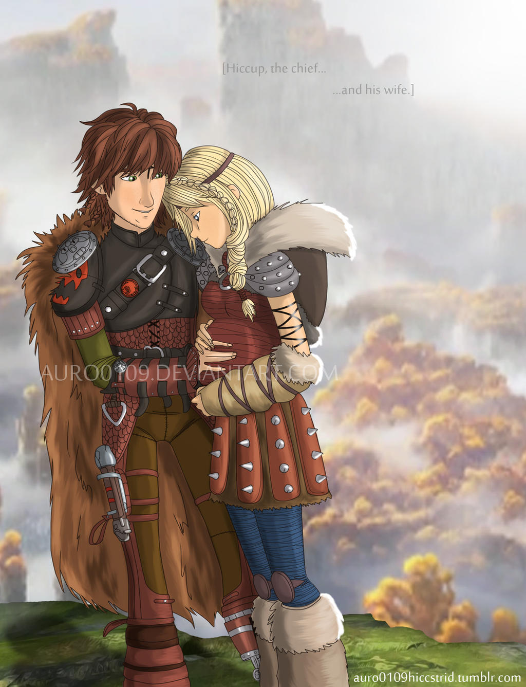 Hiccup the chief and his wife astrid by auro0109 on deviantart hiccup the chief and his wife astrid by auro0109 ccuart Image collections