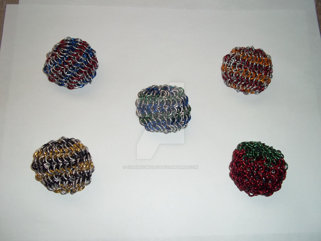 Chainmaille Footbags - Partial Colour by ChainedWolfe