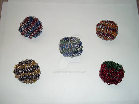 Chainmaille Footbags - Partial Colour