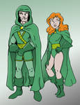 Green Lama and Magga the Magnificent