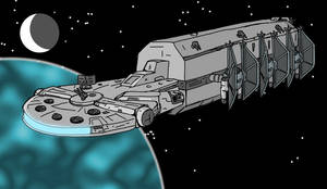 Modifed YT-13000 Figher Carrier in flight by jay042